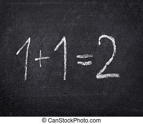 chalkboard math classroom school education - closeup of...