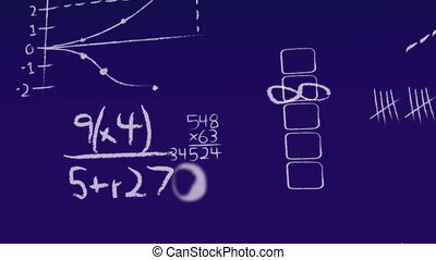 chalkboard mathematics abstract background motion