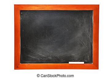chalkboard, med, krita, (with, klippning, path)