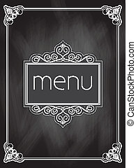 Chalkboard menu design - Menu design on a chalkboard ...