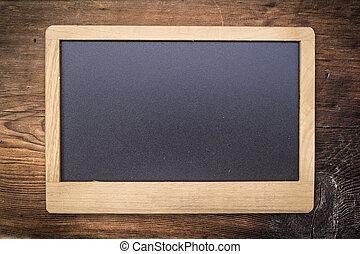 Chalkboard on Old wood texture background
