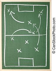 chalkboard, osztályterem, futball, harcászat, brigád sport, edző