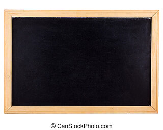 Photo of a chalkboard isolated on white