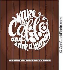 Chalkboard Poster Lettering Coffee