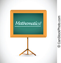 presentation board with the word mathematics.