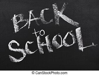 chalkboard., scuola, nero, indietro, segno