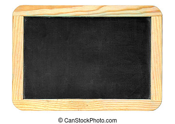 Chalkboard - Small old chalkboard isolated over white...