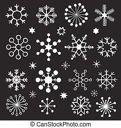 Chalkboard Snowflakes