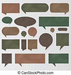 Chalkboard speech bubbles and balloons vector
