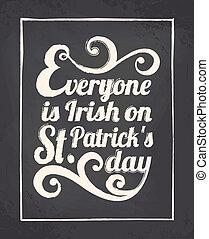 Chalkboard St. Patrick's Day Design - Chalkboard style ...
