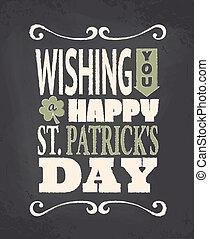 Chalkboard St. Patrick's Day Design