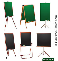chalkboard, stand., vector