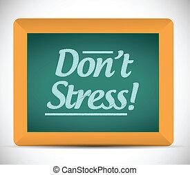 chalkboard., stress, messaggio, dont, scritto