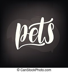 chalkboard, tablica, tytuł, pets., handwritten
