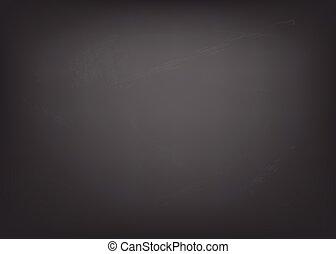 Chalkboard texture. Clean blackboard blank.  Vector illustration.