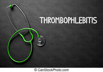 chalkboard., thrombophlebitis, illustration., 3