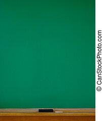 Chalkboard Vertical - Blank Chalkboard Vertical with eraser...