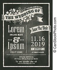 chalkboard Wedding Invitation card background