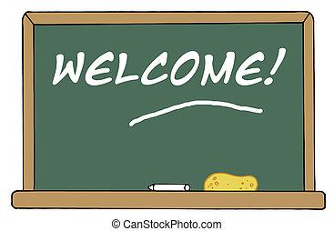 chalkboard, welkom
