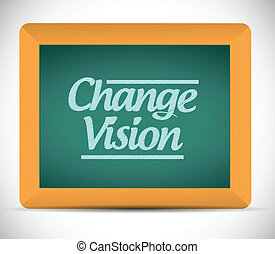 chalkboard., wiadomość, widzenie, zmiana
