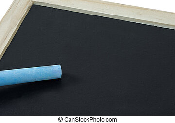 Chalkboard with Chalk and Copy Space