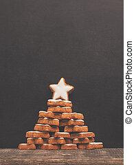 Chalkboard with Christmas tree