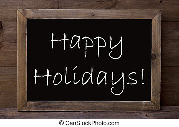 Chalkboard With Happy Holidays