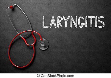 Chalkboard with Laryngitis Concept. 3D Illustration.