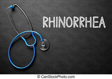 Chalkboard with Rhinorrhea Concept. 3D Illustration.