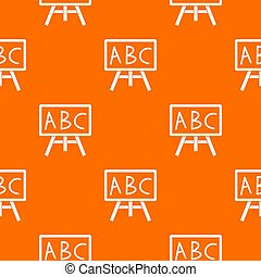 Chalkboard with the leters ABC pattern seamless