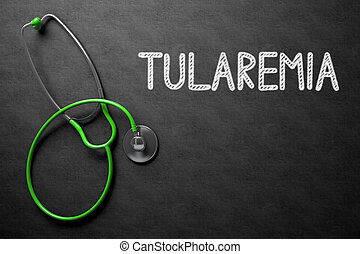 Chalkboard with Tularemia Concept. 3D Illustration.