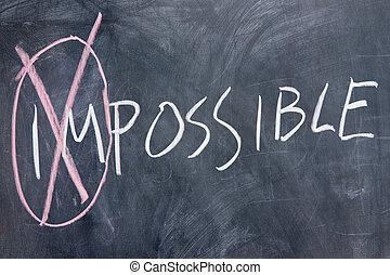 Chalkboard writing - impossible