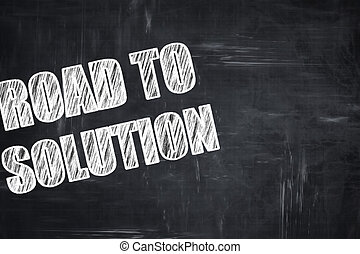 Chalkboard writing: road to solution