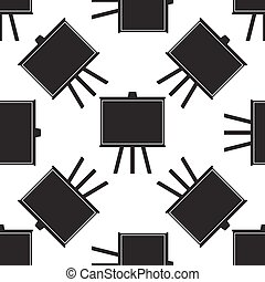 Chalkboards icon seamless pattern on white background. Vector Illustration