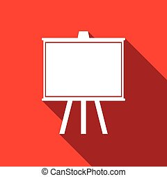 Chalkboards Icon with long shadow.