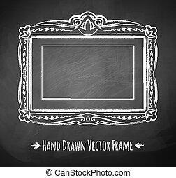 Chalked vintage baroque frame.
