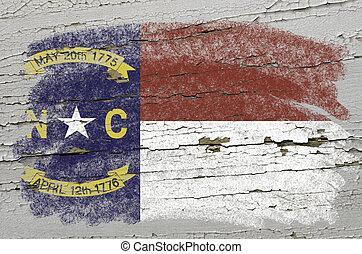 chalky, norte, pintado, estado, textura, giz, cor, bandeira,...