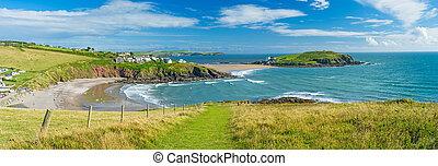 Challaborough Bay and Burgh Island Devon England