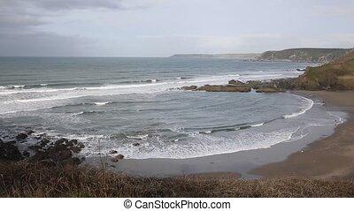 Challaborough bay and coast Devon