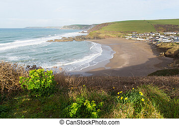 Challaborough bay South Devon uk