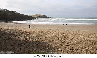 Challaborough beach South Devon PAN