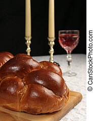Challah For Shabbat - A closeup photo of challah bread for...