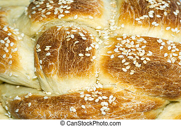 Challah is a special Jewish braided bread eaten on Sabbath...