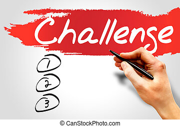 Challenge blank list, business concept
