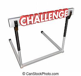 Challenge Hurdle 3d Word Problem Overcome Achieve Goal