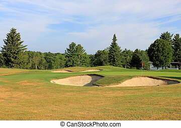 Challenge of sand traps on course - Challenging sand traps...