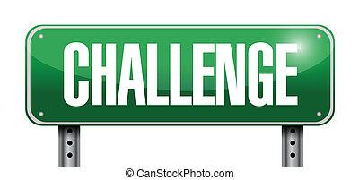 challenge road sign illustration
