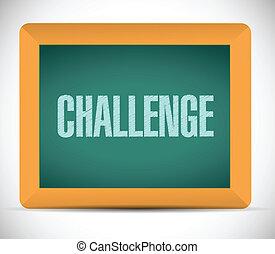 challenge sign illustration design