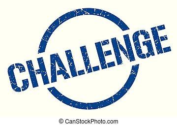 challenge stamp - challenge blue round stamp