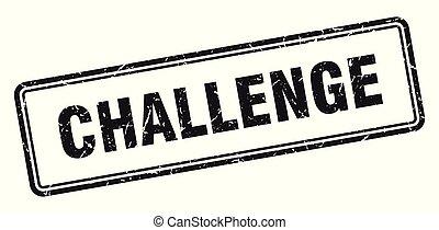 challenge stamp. challenge square grunge sign. challenge